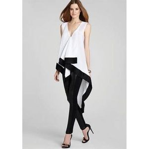Cyprien asymmetrical high low top blouse XS
